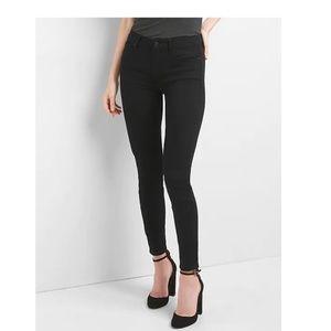 NWT Gap Mid Rise True Skinny Jeans 33 Black v325-9